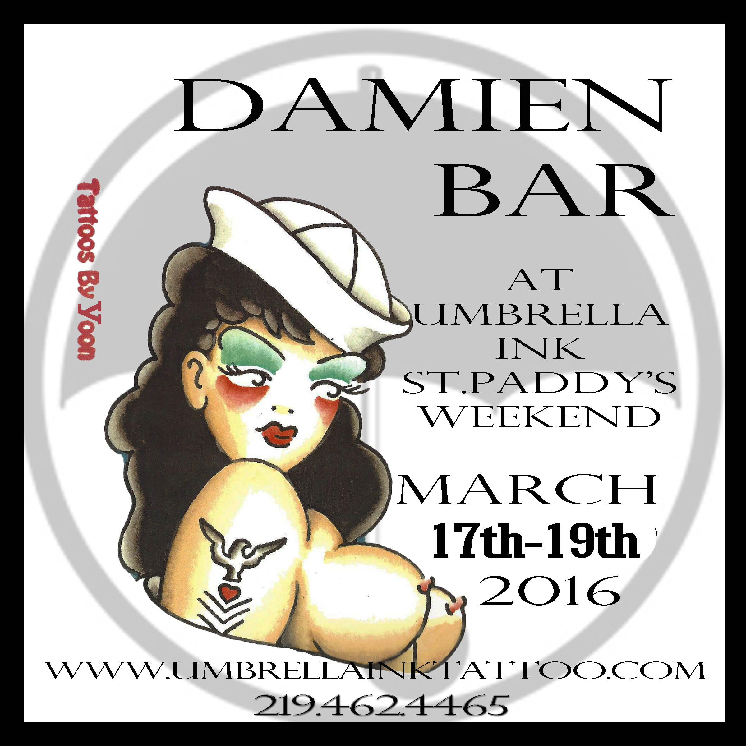 Celebrate St.Patrick's Weekend under the Umbrella with Damien Bar (YOON)